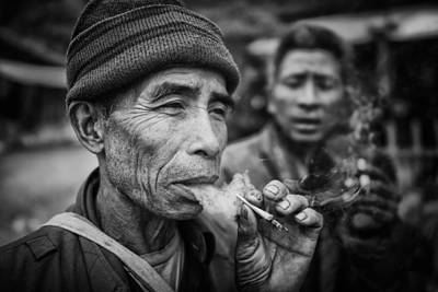 Laos Photograph - Smokers by Franz Sussbauer