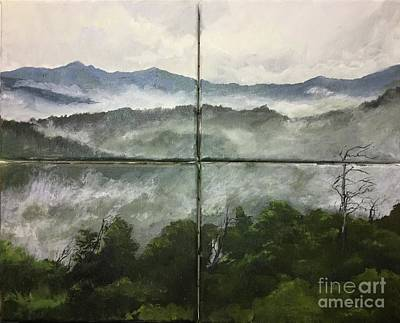Great Smokey Mountains Painting - Smokey Mountains 4pc by Wayne Mathisen