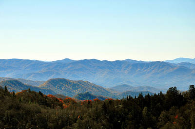 Smokey Mountains Print by Brittany H