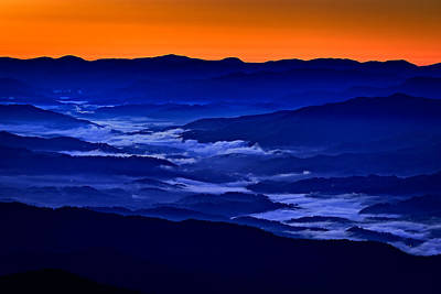 Smokies At Dawn Print by Rick Berk