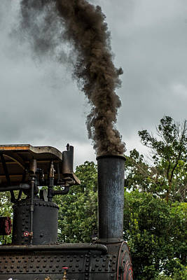 Steam Tractor Photograph - Smokin by Paul Freidlund