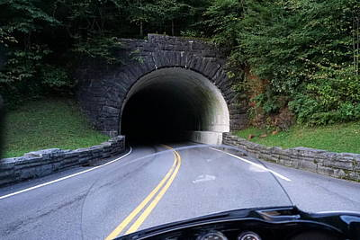Smoky Mountain Tunnel Print by Laurie Perry