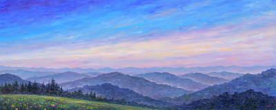 Smoky Mountain Wildflowers - Panorama Print by Jeff Pittman