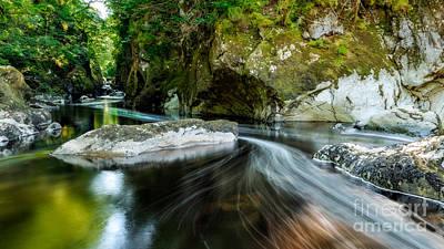 North Wales Digital Art - Smooth Flow by Adrian Evans