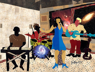 Wynton Marsalis Mixed Media - Smooth Jazz At City View by Everett Spruill