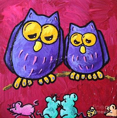 Limbbirds Painting - Smorgasbord by LimbBirds Whimsical Birds