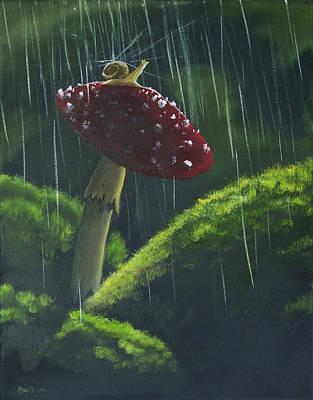 Snail Friend Original by Adam Morris
