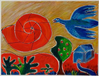 Snail Sun Original by Ema Dessens-Susnea