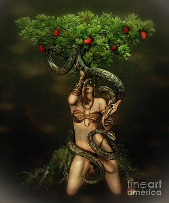Reptiles Digital Art - Snake Charmer by Shanina Conway