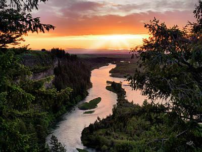 Idaho Photograph - Snake River Sunset by Leland D Howard