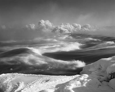 Black And White Photograph - Snake River Winter by Leland D Howard
