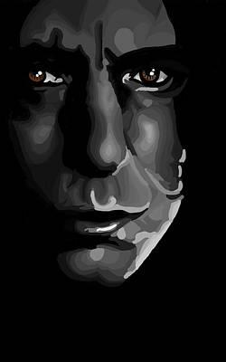 Deathly Hallows Digital Art - Snape by Lisa Leeman