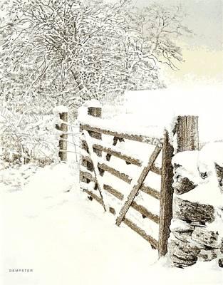 Snow On A Gate Print by Alwyn Dempster Jones