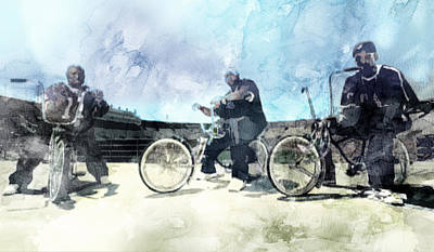 Music Painting - Snoop Dogg, Nate 2 by Jani Heinonen