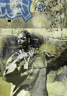 Portraits Painting - Snoop Graffitti  54 by Jani Heinonen