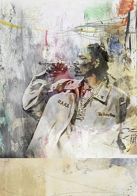 Portraits Painting - Snoop Graffitti 7865 by Jani Heinonen