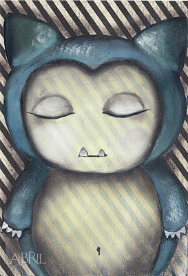 Snorlax Original by Abril Andrade Griffith