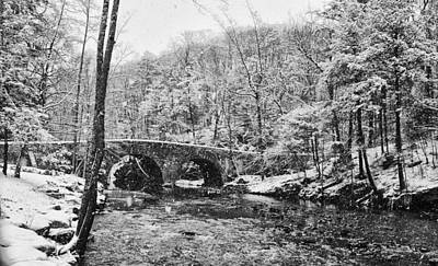 Snow Along The Wissahickon Creek Print by Bill Cannon