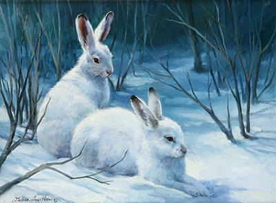 Winter Blues Print by Laurie Hein