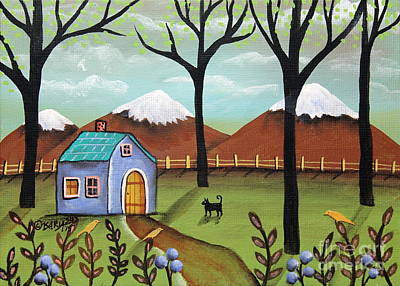 Blueberry Painting - Snow Capped by Karla Gerard