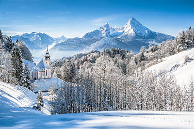 Germany Photograph - Snow-capped Winter Wonderland  by JR Photography