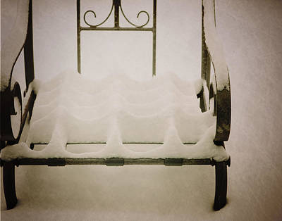 Snow Chair Print by Al  Mueller