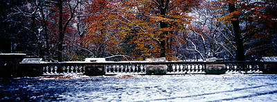 Snow Covered Balcony, Central Park Print by Panoramic Images