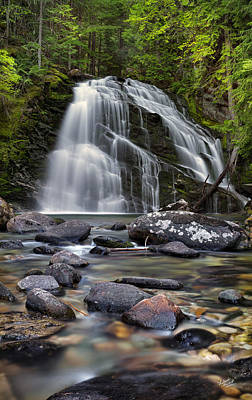 Snow Creek Falls Print by Leland D Howard