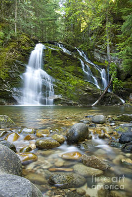 Snow Creek Falls Print by Idaho Scenic Images Linda Lantzy