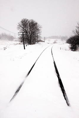Snow Crossing Print by Russell Styles