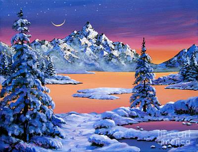 Snow Fantasy Print by David Lloyd Glover