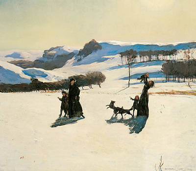 Winter Scene Artists Painting - Snow Fields by Rockwell Kent