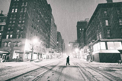 Snowstorm Photograph - Snow In New York City by Vivienne Gucwa