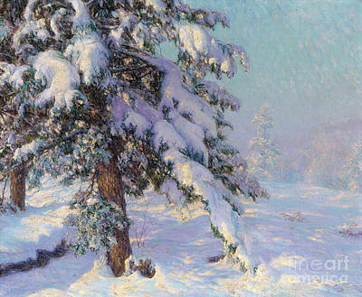 Spruce Painting - Snow-laden by Walter Launt Palmer