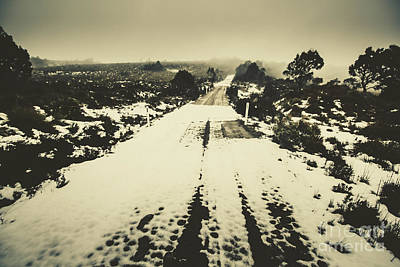 Snow Lane Print by Jorgo Photography - Wall Art Gallery
