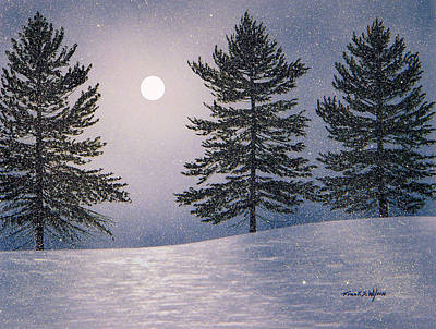 Snowscape Painting - Snow Light by Frank Wilson