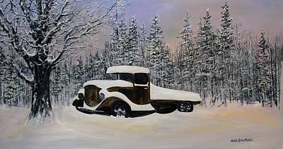 Painting - Snow Mobile by Ken Ahlering