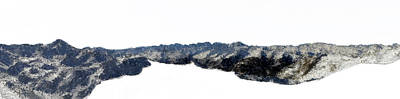Snow Piles Painting - Snow Mountain Pano  by Bruce Nutting