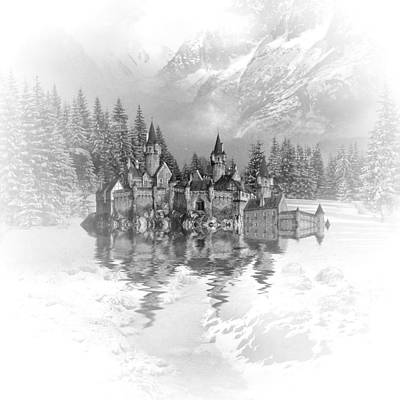 Castle Mixed Media - Snow Palace by Sharon Lisa Clarke