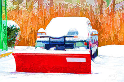 Snow Plow Truck 1 Print by Lanjee Chee