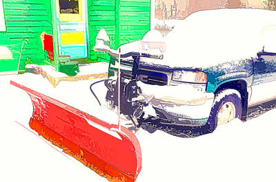 Snow Plow Truck 3 Print by Lanjee Chee