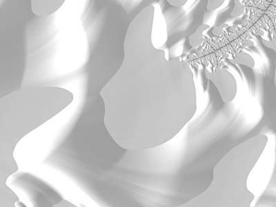 Fractal Photograph - Snow Sculpture by Barbara Zahno