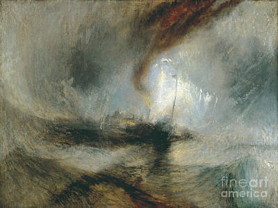 Apprehension Painting - Snow Storm by JMW Turner