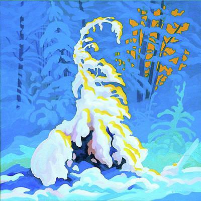 Snowy Trees Painting - Snow Tree by Dianne Bersea
