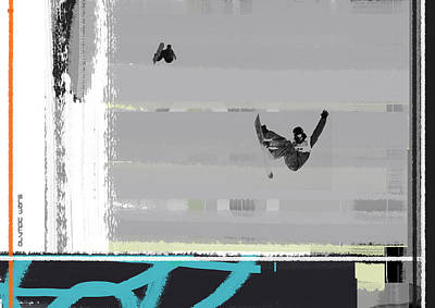 Snowboarding Print by Naxart Studio