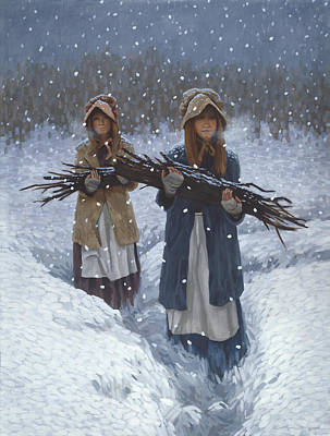 Snowbound Painting - Snowbound At Red Buttes by Stephen Bartholomew