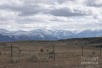 Snow Photograph - Snowcapped Mountains by Carolyn Brown