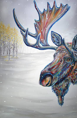 Painting - Snowdrifter Triptych Panel 1 by Teshia Art