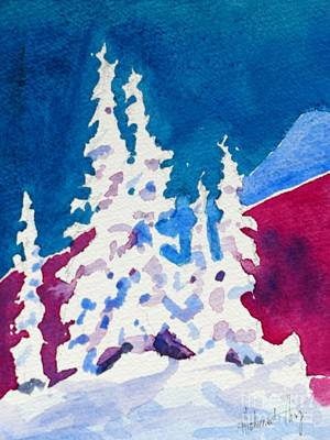 Snowed In  -  Watercolour Print by Mohamed Hirji
