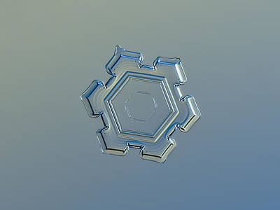 Color Photograph - Snowflake Photo - Beneath A Steel Sky by Alexey Kljatov